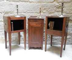 End Tables --- (middle) Table - Walnut - Louis XV style, Louis Philippe period circa 1835