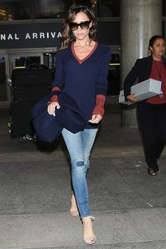 Виктории Бекхэм в аэропорту Лос-Анджелеса