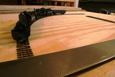 What is the Minimum Curve Radius for Model Trains?: Laying out several radii on a scrap of plywood allows quick testing of new locomotives for operating concerns. While these locomotives will negotiate a 15 inch radius, they look much better on 18 or better.