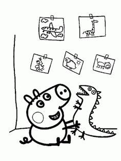 dibujo para colorear peppa pig online