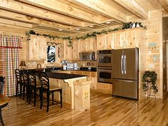 Not a bad kitchen....better if it were dark with some lights.....love the cabinets though.