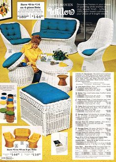 Tips to Choose Outdoor Patio Furniture - My Backyard ideas Patio Furniture Redo, 70s Furniture, Outdoor Wicker Furniture, Furniture Stores Nyc, Vintage Furniture, Retro Ads, Vintage Advertisements, Vintage Ads, Vintage Modern