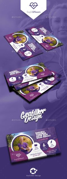 Healthy Life Business Card Template PSD, InDesign INDD
