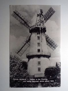 Vintage Postcard Sutton windmill, Tallest In The Country.   eBay