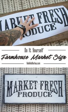 Right now, everyone is obsessing over the show Fixer Upper and everything that Joanna Gaines touches. And I'm with you! She's introduced us all to the wonders of farmhouse style, which features lots of rustic, antique pieces — and a lot of times, big ol signs that were once hanging in storefronts of the cutest little markets. …