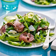 Fast & Fresh summer meals | Grecian Steak Salad | Sunset.com
