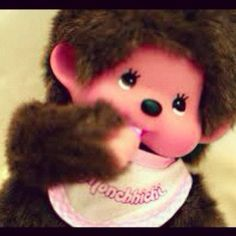 Monchhichi, Monchhichi, oh so soft and cuddly... Grandma had one of these and we just loved him!!