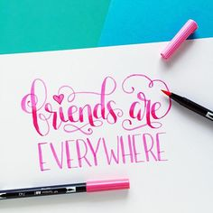Lettering with Tombow Dual Tips