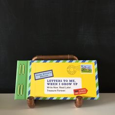 This kids' version of the bestselling Letters to My Future Self brings young writers a fun new way to capture their childhood. Twelve prompted letters bound in Book Activities, Activity Books, When I Grow Up, Time Capsule, Growing Up, Writer, Childhood, Letters, Reading