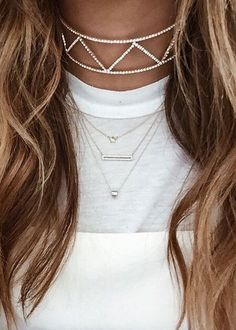 statement choker are a trend because they are the new evolved version of the black chokers that everyone was wearing not to long ago.