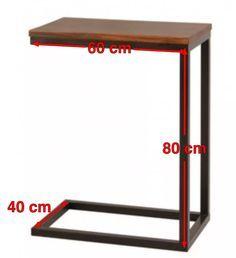 mesa de arrime de hierro y madera                                                                                                                                                                                 Más