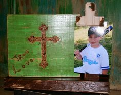 Carved cross on Wood True Love with clip for by GraceFlowsFreely, $25.00
