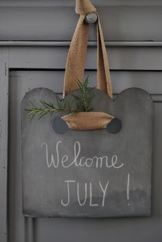 Blackboard Paint, Chalkboard, Welcome July, Market Stalls, Blackboards, Summer Time, Summer Days, Decoration, Planter Pots