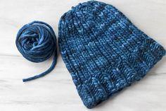 Big Chunky Comfy Hat by Erica Kempf Broughton, knitted by mmgrrr | malabrigo Rasta in Azul Profundo