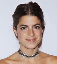 @Who What Wear - Leandra Medine   Strapless dresses can leave even the most confident lady feeling slightly exposed. The solution? Put a choker on it! At the ACE Awards in New York City, Medine's Dannijo bauble breaks up the swath of skin, yet doesn't compete with her Rosie Assoulin dress.  Get The Look:  Joomi Lim Luxe Double Spike Choker ($154)