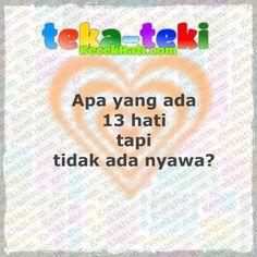 Teka-teki Apa yang ada 13 hati tapi tidak ada nyawa?