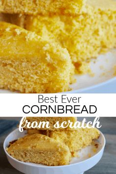This Cornbread recipe is so easy and I will never buy boxed cornbread again. Great with chili and soups This Cornbread recipe is so easy and I will never buy boxed cornbread again. Great with chili and soups Buttery Cornbread Recipe, Cornbread Recipe From Scratch, Southern Cornbread Recipe, Vegan Cornbread, Honey Cornbread, Homemade Cornbread, Cornbread Recipes, Best Cornbread Recipe For Chili, Corn Flour Recipes