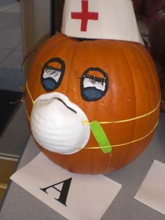 Image detail for - Nurse Pumpkin Nurse Office Decor, School Nurse Office, Nurse Decor, School Nursing, Theme Halloween, Halloween Pumpkins, Halloween Crafts, Halloween Decorations, Happy Halloween