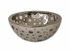 Design Obstschale aus Keramik, silber, Früchte Schale, Obstschale, Deko | eBay