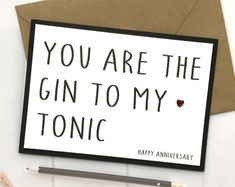 Crafts Uniquey by CraftsUniquey Happy Anniversary, Anniversary Cards, Gin And Tonic, Gifts For Him, Etsy Seller, Boyfriend, Humor, Creative, Funny