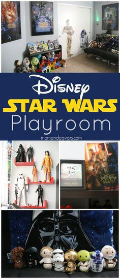 Disney Star Wars Playroom by @momendeavors. LOVE it. How about you? You could use ideas to create any Star Wars themed room -- or to find a few great gift ideas.