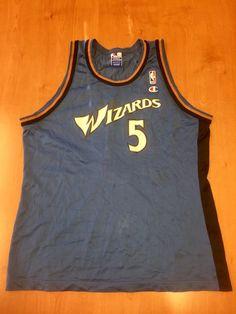 ee44884b5 Vintage 1997 - 1998 Juwan Howard Washington Wizards Champion Jersey Size 48  michigan hat shirt bullets michael jordan rasheed wallace nba