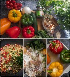 Poivrons farcis aux légumes d'été (recette facile végétarienne) Menu, Vegetables, Food, Vegetarian Recipes, Menu Board Design, Essen, Vegetable Recipes, Meals, Yemek