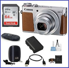 Canon PowerShot G9 X Digital Camera (Silver) Pro Bundle includes: 64GB SDXC Class 10 Memory Card, Card Reader, Case, Spare Battery & more... review - https://www.bestseller.ws/blog/camera-and-photo/canon-powershot-g9-x-digital-camera-silver-pro-bundle-includes-64gb-sdxc-class-10-memory-card-card-reader-case-spare-battery-more-review/