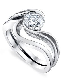 SO GORGEOUS. My new favorite ring designer.    Aerial Engagement Ring - Mark Schneider Design