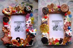 Sweets deco picture frame by kawaiifriendscafe.deviantart.com on @deviantART