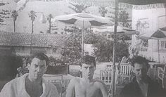 Ron, his boyfriend Bobby, and a friend on holiday.