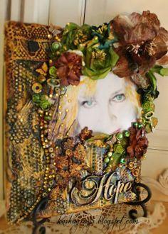 Like the idea of using Multi-Media to embellish frames & journal covers.  - Hope - Berry71Bleu - Scrapbook.com