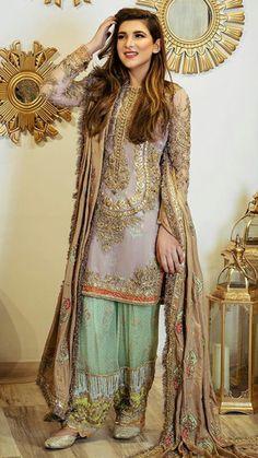 Shadi Dresses, Pakistani Formal Dresses, Formal Dresses For Weddings, Pakistani Dress Design, Pakistani Outfits, Indian Dresses, Formal Outfits, Stylish Dress Designs, Stylish Dresses