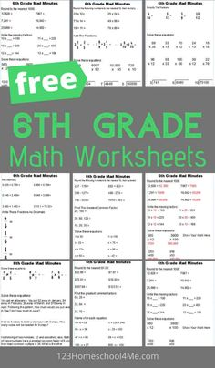 Year 6 Maths Worksheets, Math Addition Worksheets, Free Printable Math Worksheets, Geometry Worksheets, Spelling Worksheets, Measurement Worksheets, Fractions Worksheets, Teaching 6th Grade, Sixth Grade Math