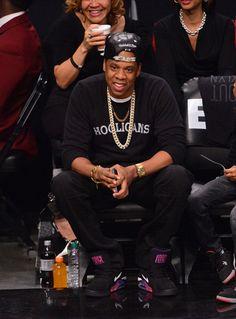 Men's Fashion Flash: Jay-Z's Nets vs. Bulls Playoff Game Rich Kids Hooligans Sweater - The Fashion Bomb Blog : Celebrity Fashion, Fashion News, What To Wear, Runway Show Reviews