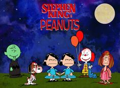Stephen King and Peanuts Mashup by HalHafnerART on Deviantart Stephen King It, Stephen King Movies, Steven King, Stephen King Tattoos, Funny Horror, Horror Art, Horror Movies, Horror Cartoon, Scary Movies