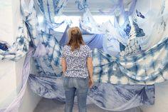 #shibori #textiles #dyes #installation #indigo Christina Lukac, 2016