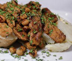 Barbecue Tempeh Stuffed Potato #vegetarian