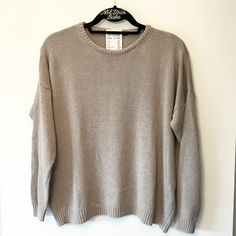 """BNWT taupe wool veena sweater 23"""" in length, a tiny snag on the back neck Brandy Melville Sweaters Crew & Scoop Necks"""