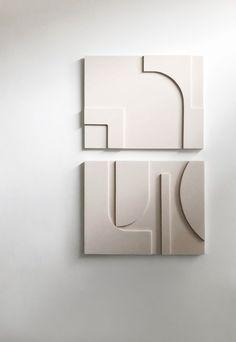 Home tour - an elegant, calming house in London Wall Sculptures, Sculpture Art, Paperclay, Minimalist Interior, Best Interior Design, Art Object, Geometric Art, Oeuvre D'art, Installation Art