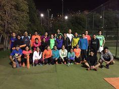 Comenzamos con la preparación física desde temprano 7:00 #MajuAm #GoRunRoadRunners @skecherschile @roadrunnerschile  Road Runners Chile Stadio italiano