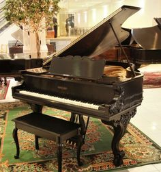 Chickering Country French Style Parlor Grand Piano | The Antique Piano Shop