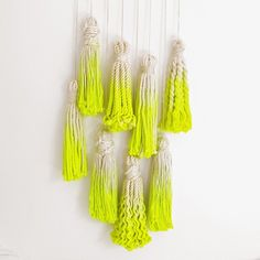 """chapterfriday - """"Now that's how you tie a tassel! #diy #inspiration #neonpaint #home"""""""