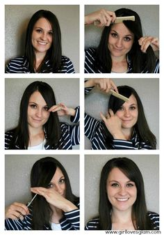 7 Best Cutting Your Own Bangs Images On Pinterest How To Cut Bangs
