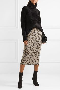 f857fec50171b4 Max Mara - Leopard-print wool midi skirt
