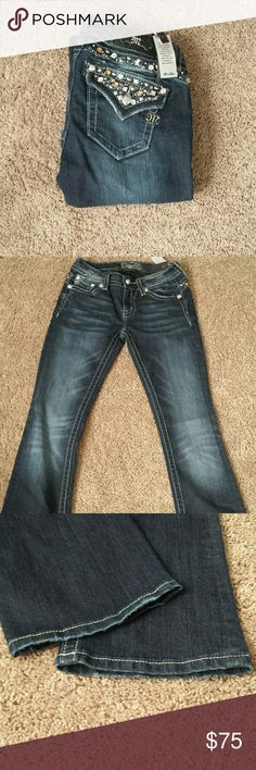 "Miss Me Boot Cut Bling Jeans! NWT! Miss Me Boot Cut Bling Jeans! Size 26, inseam 34""  NWT! Miss Me Jeans Boot Cut"