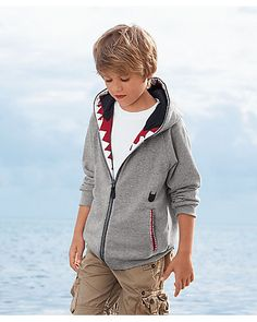 Shark Teeth hoodie for kids from Chasing Fireflies