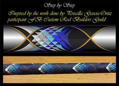 Pine Cone Cross Wrap Pattern step by step Custom Rod Building Cross Wrap Pattern… Custom Fishing Rods, Fly Fishing Rods, Fly Rods, Fishing Stuff, Walleye Fishing Tips, Trout Fishing, Fish Wrap, Cool Wraps, Fishing Wedding