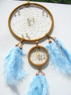 Labradorit  im  Dreamcatcher- Traumfänger  braun von Traumnetz.com  - Kraft der Steine   Besondere Geschenke auf DaWanda.com
