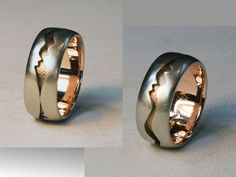 "Custom Made Sterling and rose gold ""Jagged Canyon"" ring by Cooperman Jewelry"